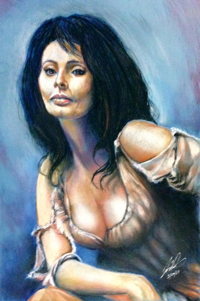 Sophia Loren by jimwinburnfineart